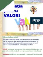Educatia pentru valori.ppt