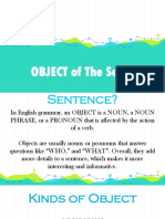 Object of The Sentence