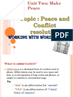 Working With Words (Make Peace)