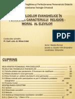 Rolul pildelor evanghelice in formarea caracterului religios moral al copilului