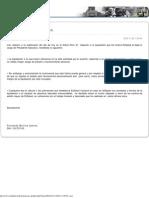 Comunicado de Prensa de Fernando Barrios