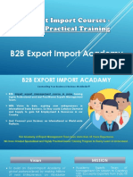 Export Import Courses in Pune, B2B Export Import Academy