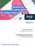 Cara Riset Kata Kunci Atau Keyword Untuk Pemasaran Di Internet