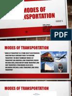 Modes of Transportation FINAL