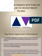 Top-Down Versus Bottom-Up Approach to Investment
