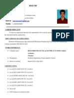 pv resume