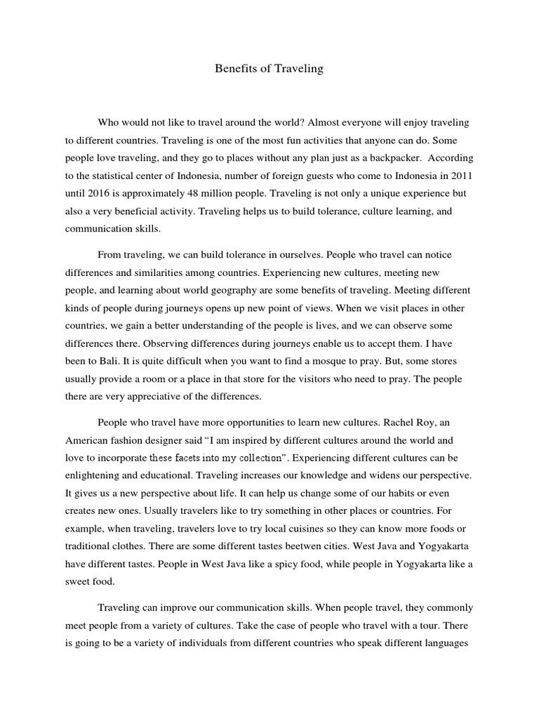 Final Essay About Travelling Psychological Concepts Psychology