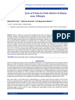 Value chain analysis of Potato in Dedo district of Jimma zone, Ethiopia