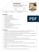 Filipino-style Pasta Carbonara - Kawaling Pinoy