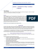 Project management – standard for today´s modern company