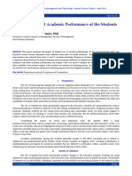 Internet Use and Academic Performance of the Students