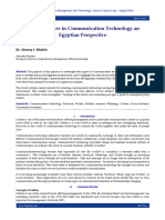 Cultural Issues in Communication Technology an Egyptian Perspective