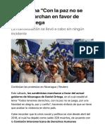Marchan de nueva cuenta en sábado en favor de Ortega