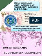 Kompetensi Guru Dan Perkembangan Kurikulum Di Indonesia