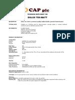 TDS Dulux Tex Matt