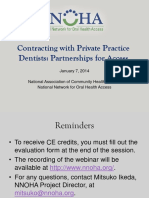 Contracting With Private Practice Dentists Partnerships for Access