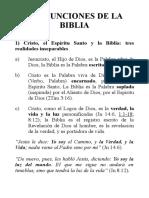 Las funciones de la Biblia