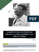 Anta Diop Gloire Africaine