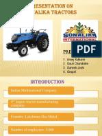 Sonalika Tractors PPT