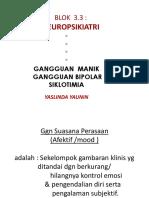 Manik,Bipolar, Siklotimia