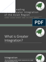 Factors Leading to the Greater Integration of Asian Regions