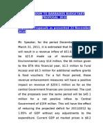Barbados Budgetary Proposal 2010 Addendum