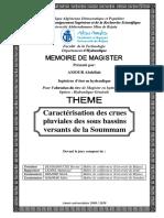 Caractérisation des crues pluviales des sous bassins versants de la soummam..pdf