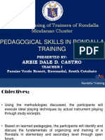 Plenary - Pedagogical Skills in Rondalla Training