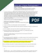 Prática de Ensino Em Língua Portuguesa I