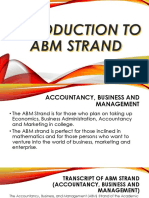 Introduction to ABM Strand