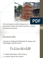 Estimate Lesson 2 Formworks