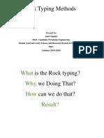 Rock Typing Methods - Ers