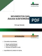 Movimento Aguas Subterraneas