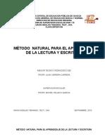 MÉTODO  NATURAL PARA EL APRENDIZAJE DE LA LECTURA Y ESCRITURA.doc