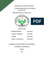 Cover Makalah Metodologi Penelitian Penjas