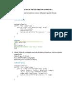 Ejercicios de Programacion Avanzada en Java