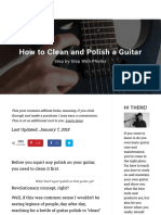 How to Clean and Polish a Guitar [Step by Step + Photos]