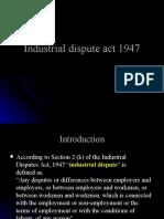 37984607 Industrial Dispute Act 1947