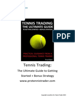 Tennis Trading the Ultimate Guide