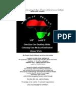 Black Afrikaans in Amerika Uniting With Black Afrikaans in Afrika to Become One Black Nation Under Afrikaans