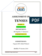 Assignment on Tenses