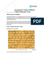 Brick Masonry Definition