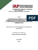 FUNCIONALIDAD FAMILIAR Y NIVEL DE ANSIEDAD EN ESTUDIANTES DEL I CICLO DE LA UNIVERSIDAD ALAS PERUANAS FILIAL ICA, FEBRERO 2015