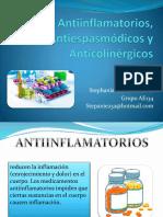 Antiinflamatorios, Antiespasmódicos y Anticolinérgicos