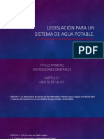 Legislación Para Un Sistema de Agua Potable