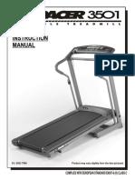 Treadmill Spacer 3501 Treadmill Instructions