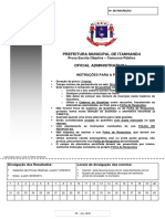 Prova Oficial Administrativo I-2010