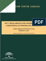 Ley y reglamento de patrimonio. Andalucía.