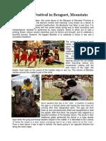 Bendian Festival in Benguet