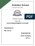 Shop Mamagement System